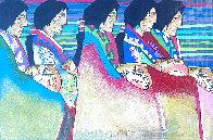 Encuentro De Las Artesanas 1998 17x21 Works on Paper (not prints) by Amado Pena - 0