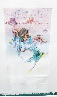 Untitled Monotype 1988 34x28 Works on Paper (not prints) by Amado Pena - 4