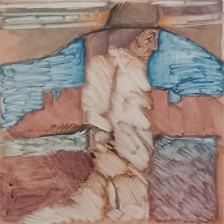 Untitled Monotype 1988 22x22 Works on Paper (not prints) - Amado Pena