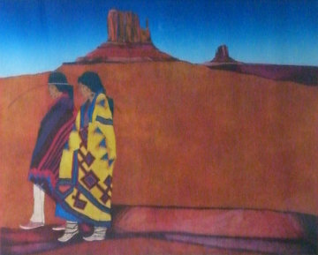 Colcha Series: Valle de Colores 1989 Limited Edition Print by Amado Pena