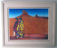 Colcha Series: Valle de Colores 1989 Limited Edition Print by Amado Pena - 1