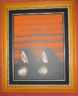 Dos Ollitas (Red) 1984 Limited Edition Print by Amado Pena - 1