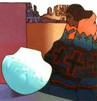 La Turquesa 1987 Limited Edition Print by Amado Pena