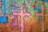 Graveyard And Spirit of Renewal Pastel 29x44 Works on Paper (not prints) by Amado Pena - 2