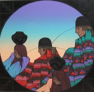 Paseo De Las Negra 1986 Limited Edition Print - Amado Pena