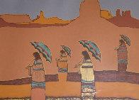 Mujeres Con Paraguas 1979 Limited Edition Print by Amado Pena - 0