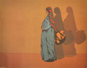 La Portadora Del Agua 1981 Limited Edition Print by Amado Pena