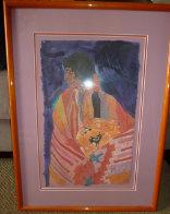 Colcha Series: Acoma En Naranja 1989 25x19 Original Painting by Amado Pena - 1