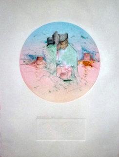Etap #25 Monotype 34x28 Works on Paper (not prints) by Amado Pena
