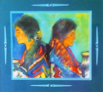 Ms. Al Mercaso 1993 14x16 Works on Paper (not prints) by Amado Pena