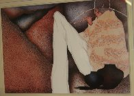 Man Playing Flute 1983 Limited Edition Print by Amado Pena - 1