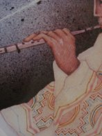 Man Playing Flute 1983 Limited Edition Print by Amado Pena - 2