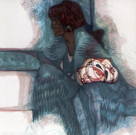 Zia Y Turquesa 42x42 Original Painting by Amado Pena