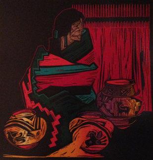 Colores Y Ella 1992 Limited Edition Print - Amado Pena