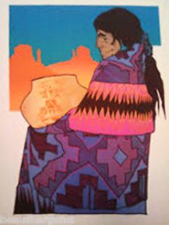 Colcha Morada 1990 Limited Edition Print by Amado Pena