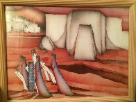 Untitled Painting 1984 22x12 Original Painting by Amado Pena - 1