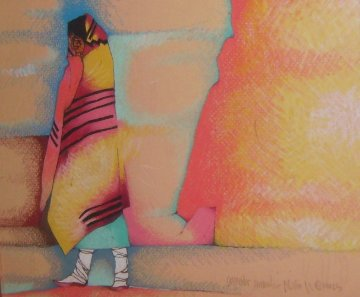 Untitled Painting 1992  18x20  Original Painting by Amado Pena