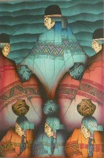 Ano Seis 1987 36x28 Original Painting by Amado Pena