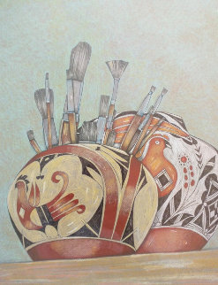 Retrato Del Pintor Drawing 1998 22x26 Drawing - Amado Pena