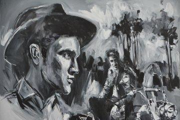 Elvis 48x60 Super Huge Original Painting - Steve Penley