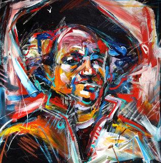 Rembrandt's Self Portrait 1990 36x36 Original Painting - Steve Penley