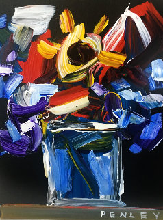 Flowers 21x16 Original Painting - Steve Penley