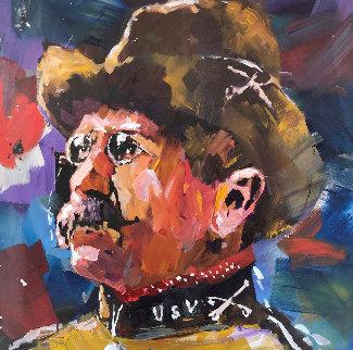 Teddy Roosevelt 2017 52x52 Original Painting - Steve Penley