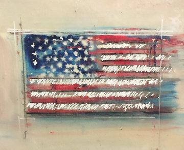 American Flag 2016 19x23 Original Painting - Steve Penley