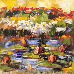 Lily Pads 2000 36x36 Original Painting - Steve Penley