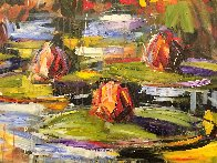 Lily Pads 2000 36x36 Original Painting by Steve Penley - 2