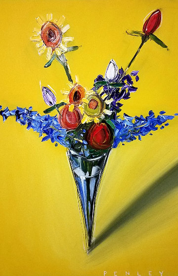 Untitled Still Life 60x48 Original Painting by Steve Penley