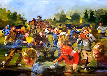 Children Playing 2000 60x84 Original Painting - Steve Penley
