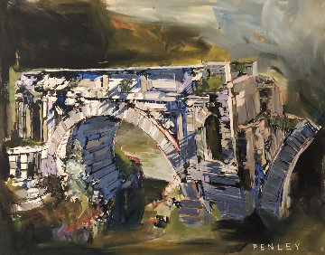 Bridge 2004 24x30 Original Painting - Steve Penley