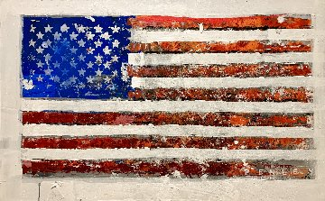 U.S. Flag 2019 32x50 Original Painting - Steve Penley
