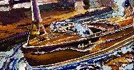 Vintage Boats 2020 24x24 Original Painting by Steve Penley - 1