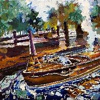 Vintage Boats 2020 24x24 Original Painting by Steve Penley - 0