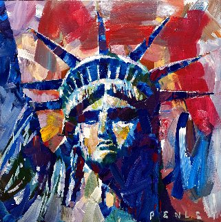 Liberty 2020 36x36 Huge Original Painting - Steve Penley