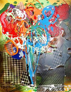Floral 4 2015 20x16 Original Painting - Steve Penley
