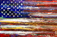 American Flag 2009 36x60 Super Huge Original Painting by Steve Penley - 0