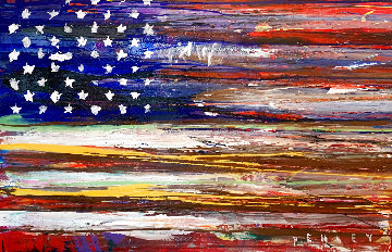 American Flag 2009 36x60 Super Huge Original Painting - Steve Penley