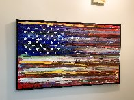 American Flag 2009 36x60 Super Huge Original Painting by Steve Penley - 1