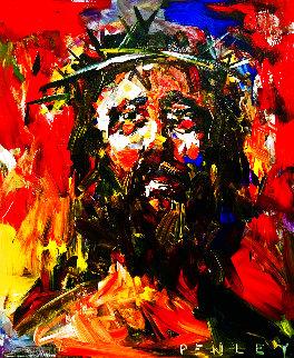 Jesus Christ 2007 36x30 Original Painting - Steve Penley