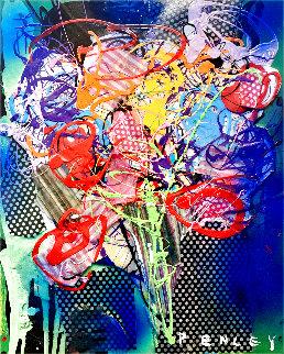 Floral 2 2015 20x16 Original Painting - Steve Penley
