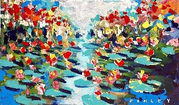 Lily Pads 36x60 Super Huge Original Painting - Steve Penley
