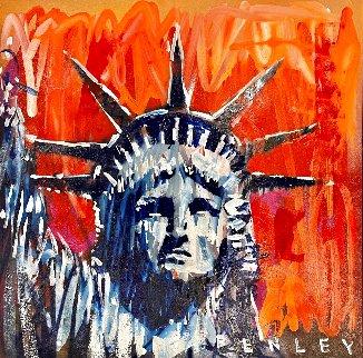 Liberty 2020 38x38 Original Painting - Steve Penley