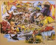 Untitled Painting 48x60 Super Huge Original Painting by Steve Penley - 0