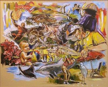Untitled Painting 48x60 Super Huge Original Painting - Steve Penley