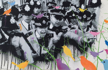 Cops And Robins 2009 28x40 Original Painting -  Penny