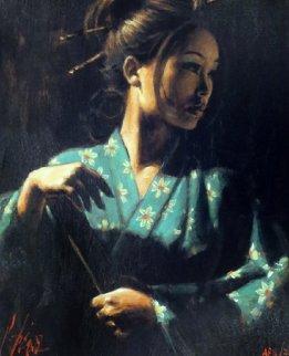 Geisha En Turquesa AP 2006 Embellished Limited Edition Print - Fabian Perez