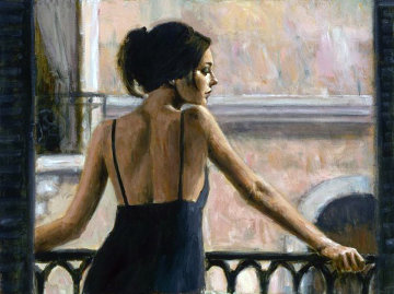 Balcony At Buenos Aires VI AP 2005 Limited Edition Print by Fabian Perez